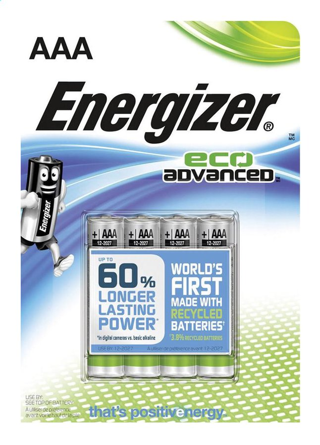Afbeelding van Energizer 4 AAA-batterijen Eco Advanced from Dreambaby