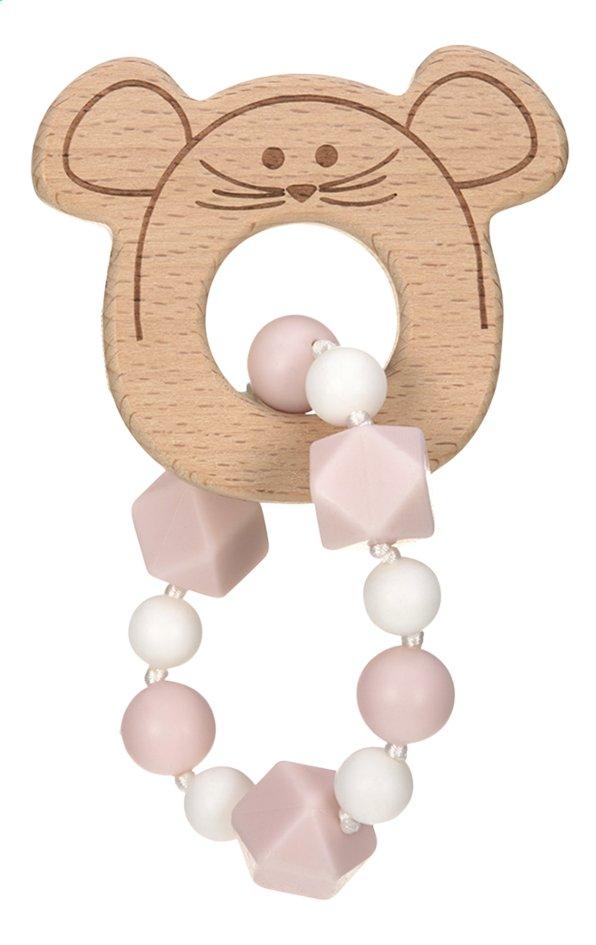 Lässig Bijtspeeltje Little Chums armband roze