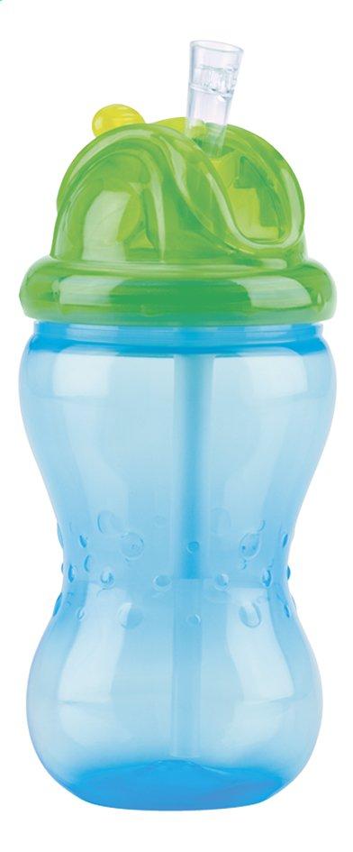 Afbeelding van Nûby Drinkfles met rietje Flip-it 360 ml blauw from Dreambaby