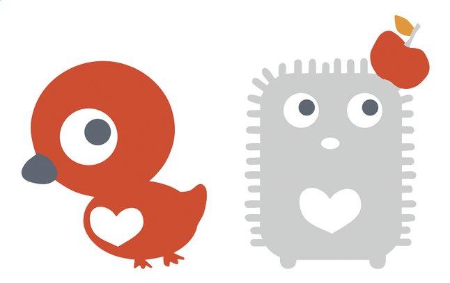 Afbeelding van Tis Lifestyle Muursticker Stuga eend en egel from Dreambaby