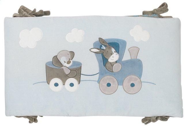 Afbeelding van Nattou Bedomranding Gaston & Cyril blauw/bruin polyester/katoen from Dreambaby