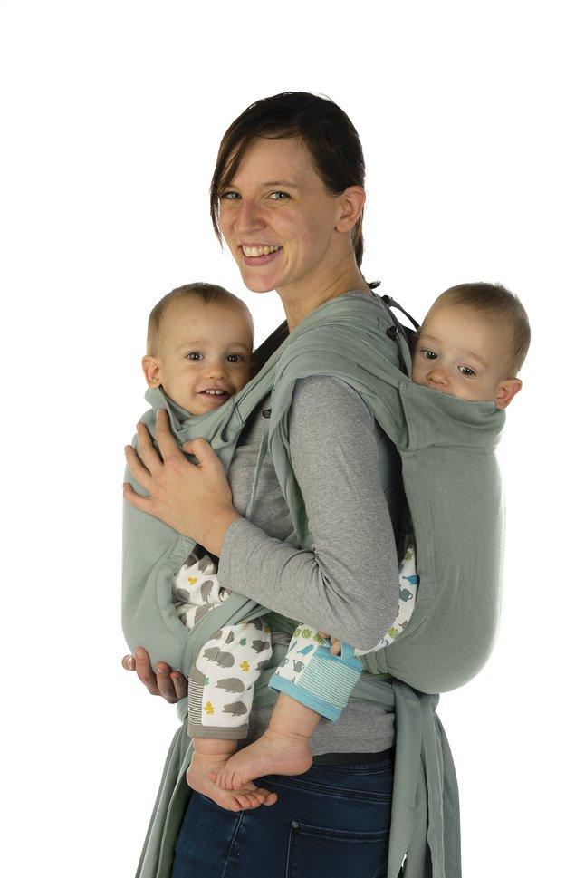 Image pour Babylonia Écharpe de portage tissée BB-TAI gris à partir de Dreambaby