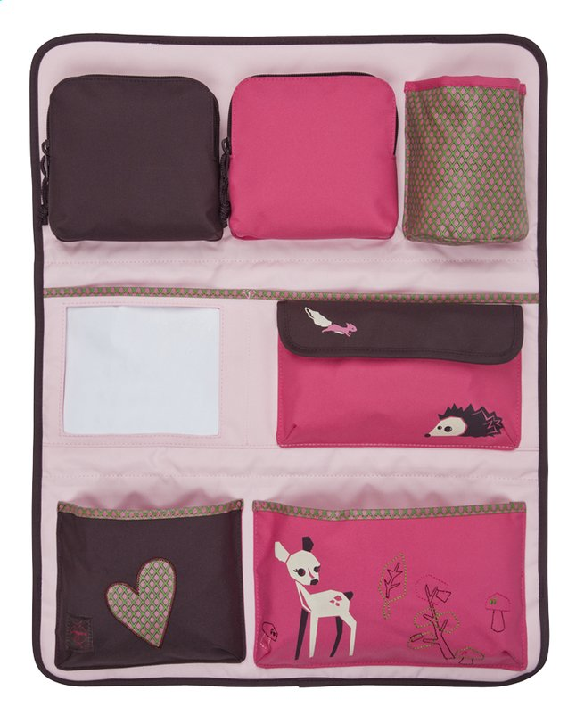 Afbeelding van Lässig Opbergtas Wrap-to-go Little Tree Fawn roze/aubergine from Dreambaby