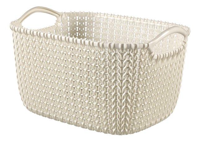 Curver Panier de rangement Knit oasis white