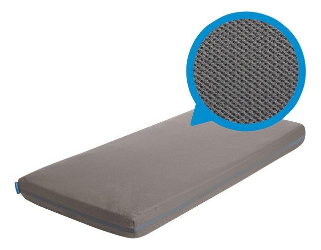 AeroSleep Hoeslaken voor bed grijs polyester B 70 x L 140 cm