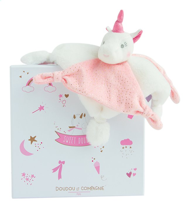 Image pour Doudou et Compagnie Doudou Licorne rose 21 cm à partir de Dreambaby