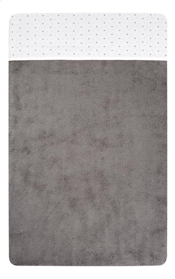 Dreambee Drap pour lit Essentials allover croix blanc/gris coton