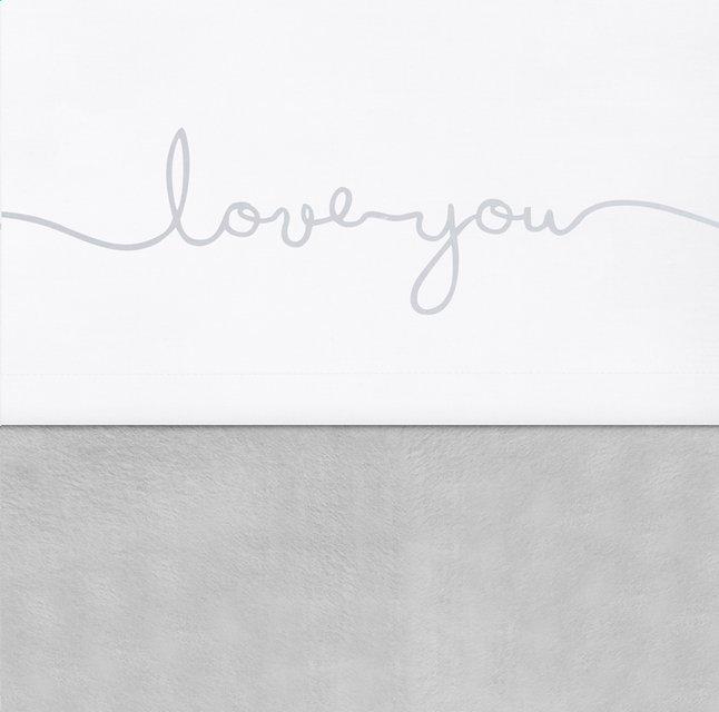Afbeelding van Jollein Laken voor wieg of park Confetti knit Love you grey katoen from Dreambaby