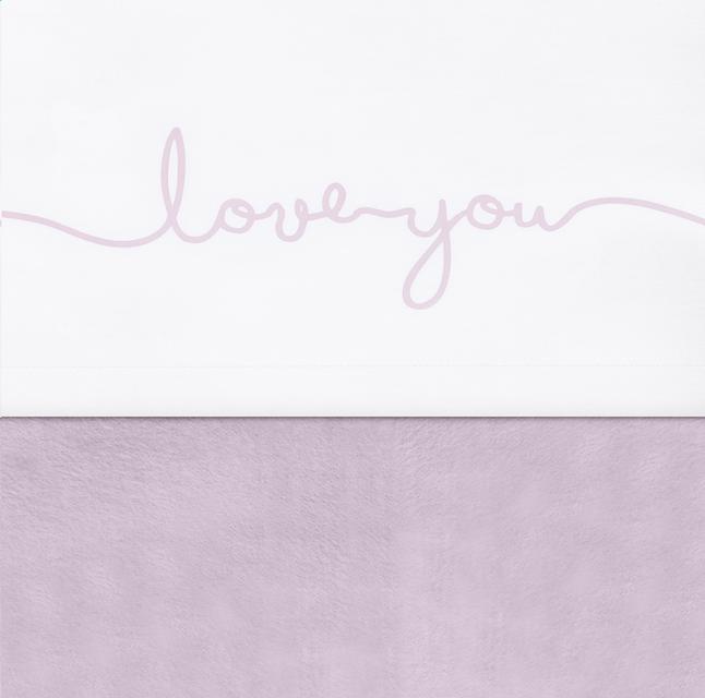 Jollein Laken voor bed Confetti knit Love you vintage pink katoen