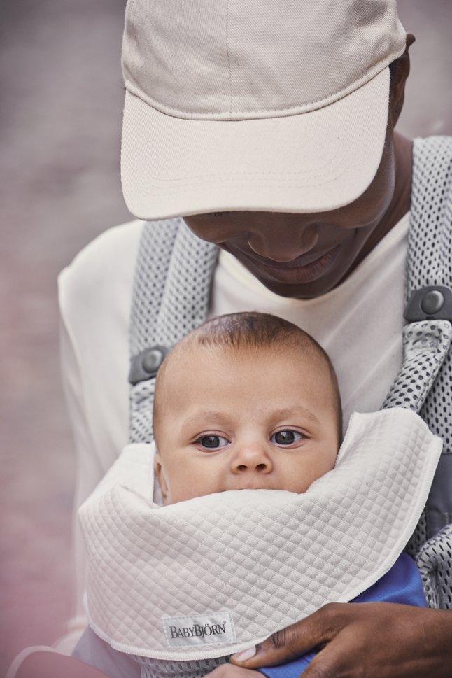 BabyBjörn Bavette pour porte-bébé Mini blanc - 2 pièces