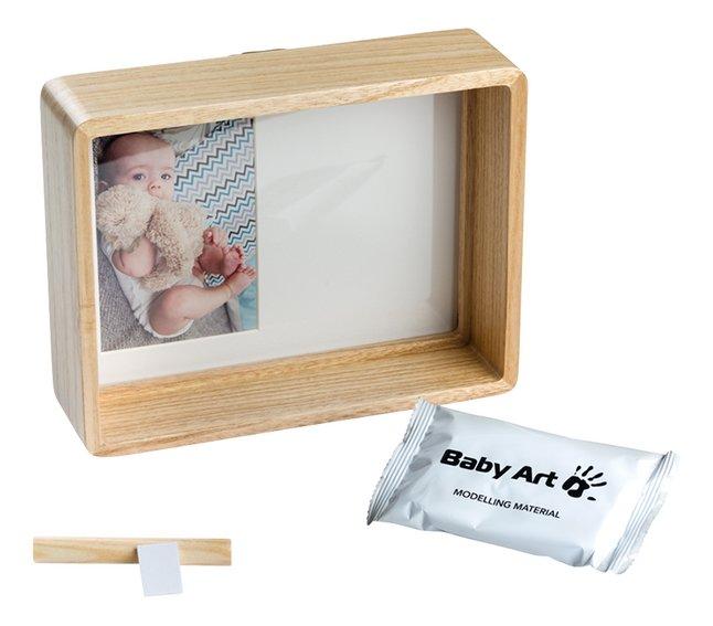 Baby Art Fotokader met gipsafdruk Deep frame wooden wit