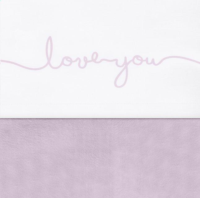 Jollein Laken voor wieg of park Confetti knit Love you vintage pink katoen