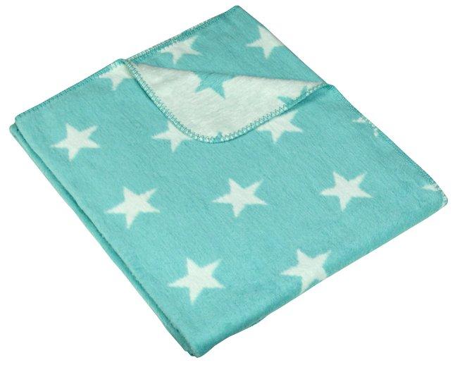 Afbeelding van Meyco Fleece deken voor wieg of park Stars mint from Dreambaby