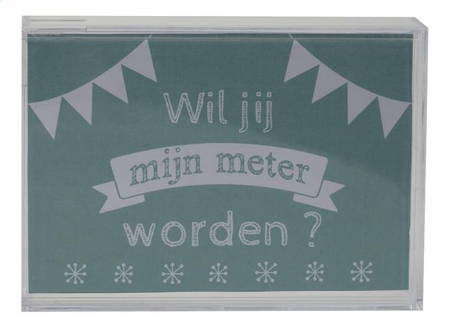 Image pour Minimou Tirelire Wil jij mijn meter worden? à partir de Dreambaby