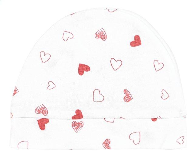 Afbeelding van Dreambee Muts Essentials hartje wit/roze maat 50/56 from Dreambaby