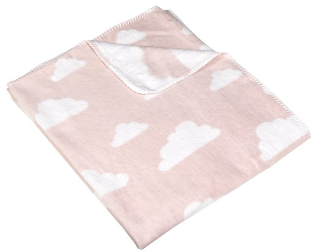 Afbeelding van Meyco Fleece deken voor bed Clouds light pink from Dreambaby