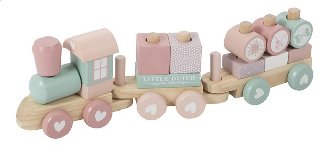 Afbeelding van Little Dutch Houten trein Adventure Pink from Dreambaby