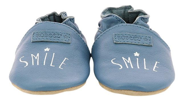 Robeez Chaussures Smiling blue denim
