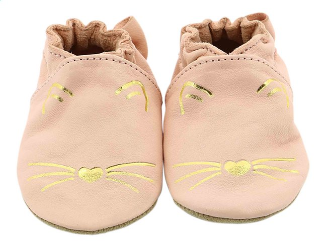 Robeez Chaussures Goldy Cat rose clair