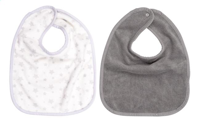 Image pour Dreambee Bavoir Essentials étoiles à pression blanc/gris clair - 2 pièces à partir de Dreambaby