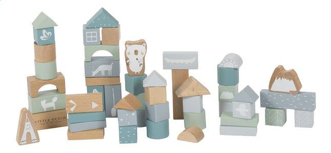 Image pour Little Dutch Blocs en bois Adventure Blue - 50 pièces à partir de Dreambaby