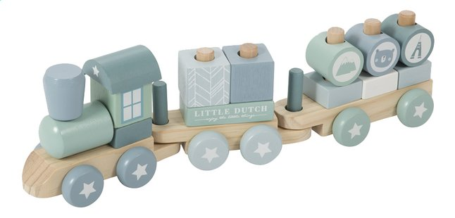 Image pour Little Dutch Train en bois Adventure Blue à partir de Dreambaby