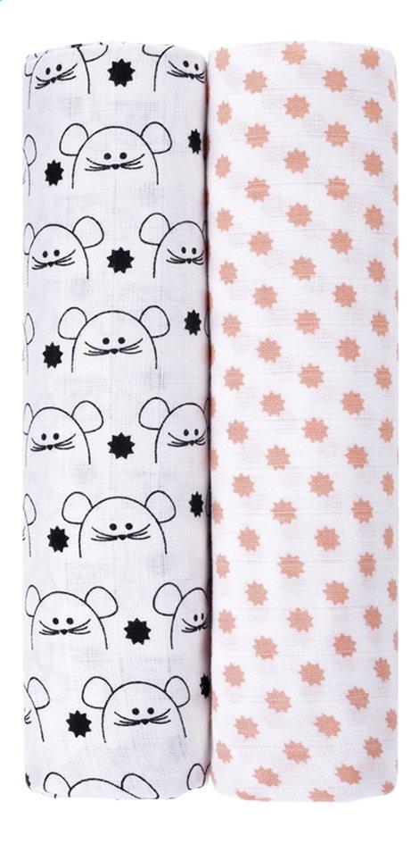Image pour Lässig Drap tetra Little Chums Mouse - 2 pièces à partir de Dreambaby