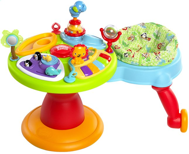 Bright starts table d 39 activit s activity center zippity - Table eveil bebe avec siege ...