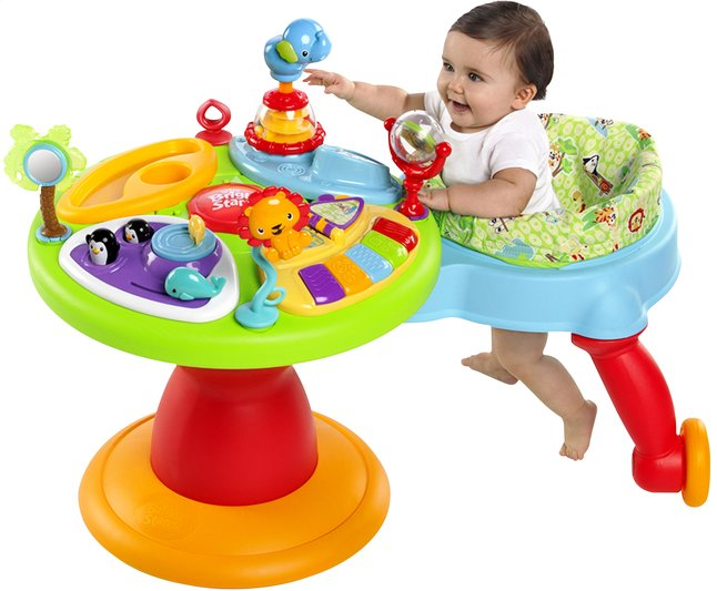 Baby Speeltafel Met Stoel.Bright Starts Activiteitentafel Activity Center Zippity Zoo 3 In 1 Around We Go