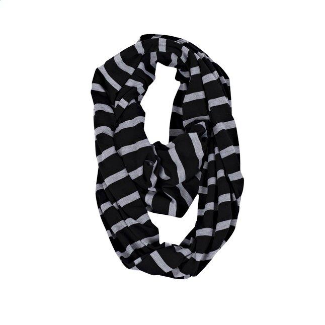 Image pour Itzy Ritzy Châle/écharpe d'allaitement Nursing Happens Infinity platinium stripe à partir de Dreambaby