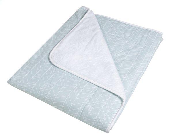 Afbeelding van Little Dutch Deken voor bed Mint Leaves Pure & Soft fleece/katoen from Dreambaby