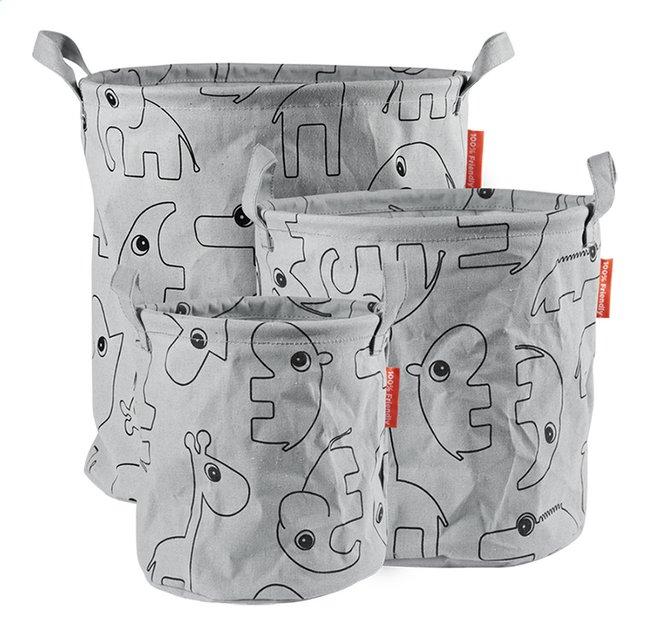 Done by Deer Panier de rangement contour grey - 3 pièces