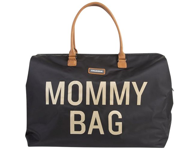Childhome Sac à langer Mommy bag black/gold