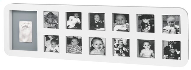 Afbeelding van Baby Art Fotokader met gipsafdruk First Year Print Frame white & grey from Dreambaby