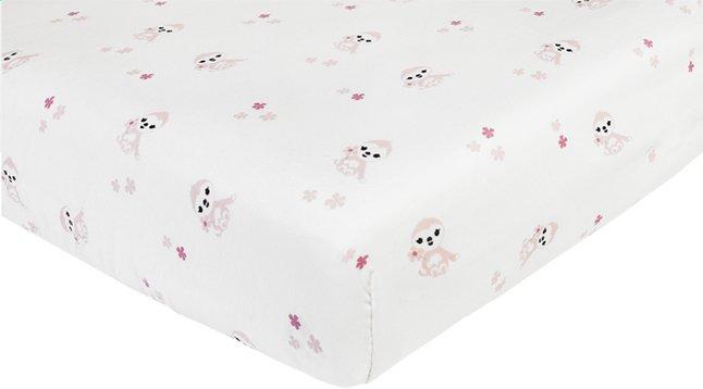 Image pour Dreambee Drap-housse Lila & Lou Lila allover blanc coton à partir de Dreambaby
