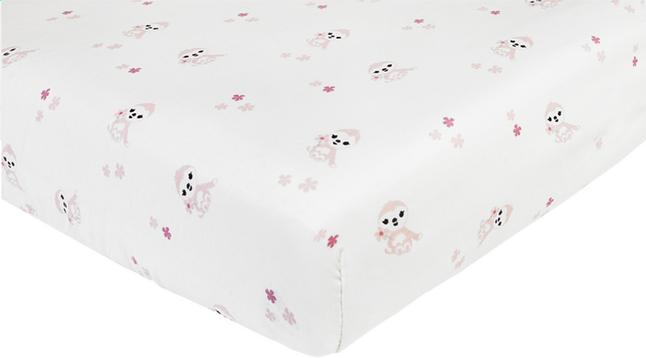 Dreambee Drap-housse Lila & Lou Lila allover blanc coton