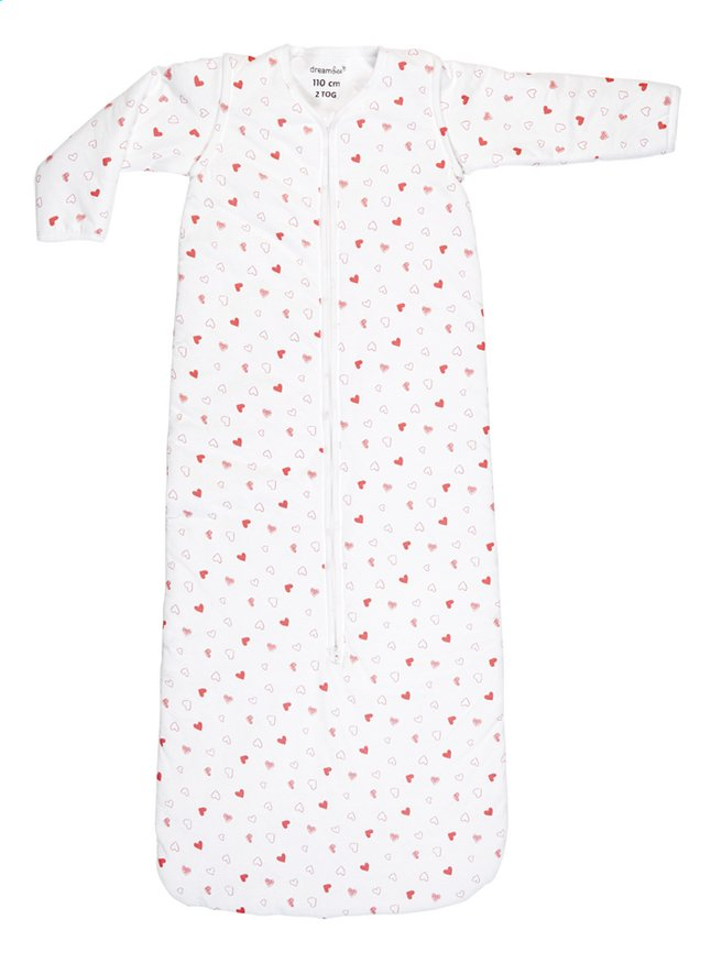 Image pour Dreambee Sac de couchage d'hiver Essentials allover coeur interlock blanc/rose 110 cm à partir de Dreambaby
