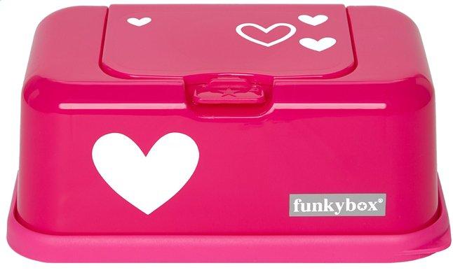 Afbeelding van FunkyBox Doos voor vochtige doekjes pink heart from Dreambaby