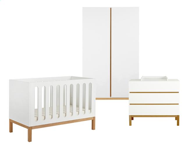 Image pour Quax Chambre de bébé 3 pièces avec armoire 2 portes Indigo blanc à partir de Dreambaby