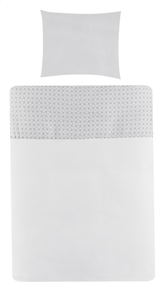 Afbeelding van Timmy Dekbedovertrek voor bed Soft Grey katoen B 100 x L 138 cm from Dreambaby