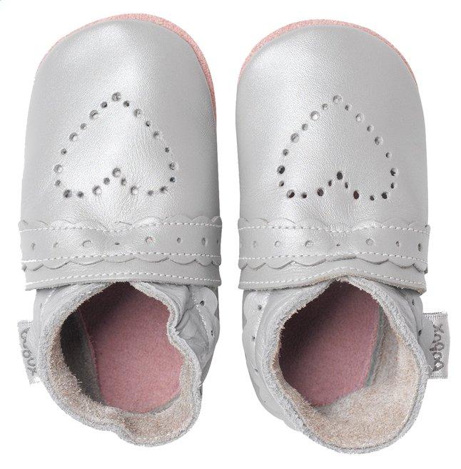 Afbeelding van Bobux Schoentjes Soft soles Sweet Heart silver maat 18/19 from Dreambaby