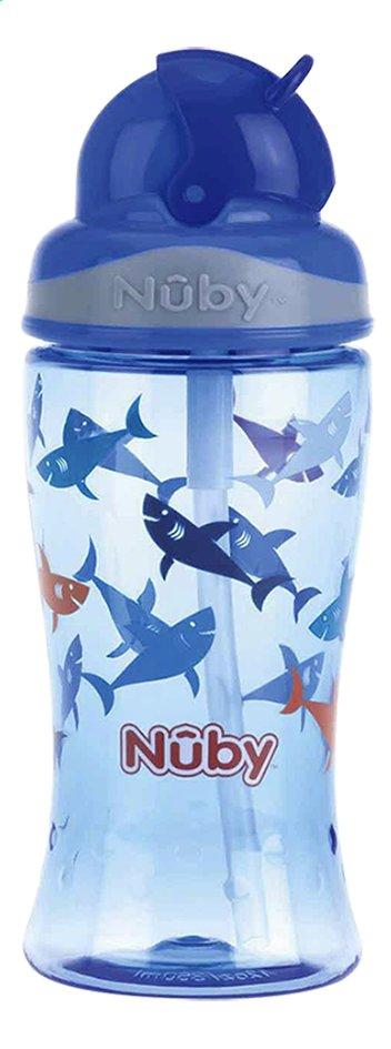 Afbeelding van Nûby Drinkfles met rietje Flip-it 360 ml haai blauw from Dreambaby