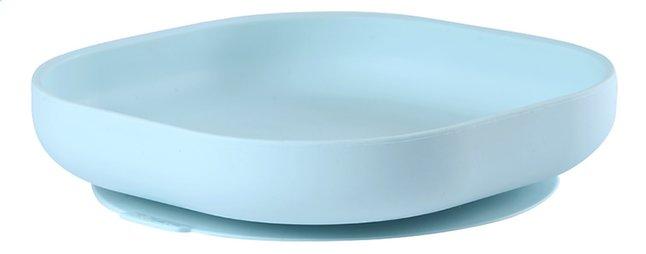 Béaba Plat bord silicone met zuignap blauw