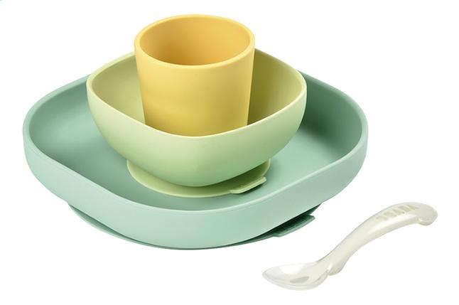 Image pour Béaba Set repas 4 pièces silicone jaune à partir de Dreambaby
