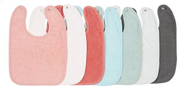 Afbeelding van Dreambee Slabbetje Essentials met drukknoppen roze/munt/grijs - 7 stuks from Dreambaby