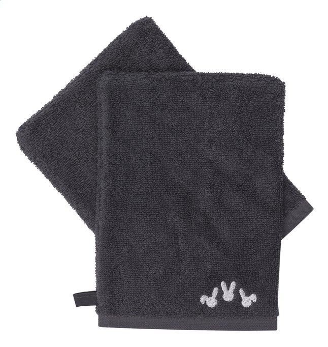 Image pour Dreambee Gant de toilette Nino gris foncé Lg 15 x L 21 cm - 2 pièces à partir de Dreambaby