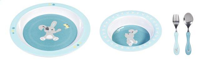 Afbeelding van Dreambee 3-delige eetset Nino munt/aqua from Dreambaby