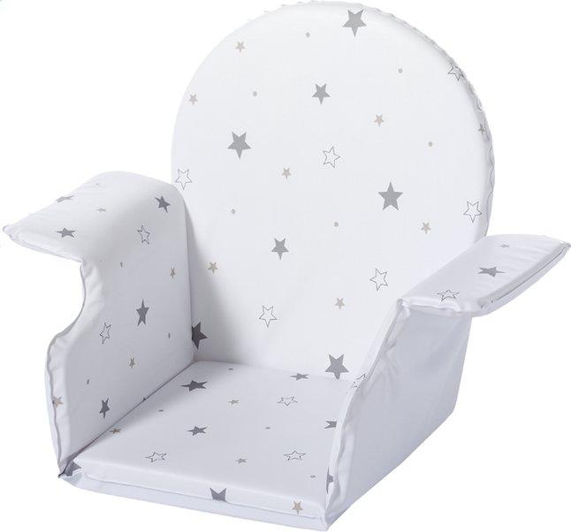 Afbeelding van Schardt Verkleinkussen voor kubusstoel Highchair Xtra II wit met sterren from Dreambaby