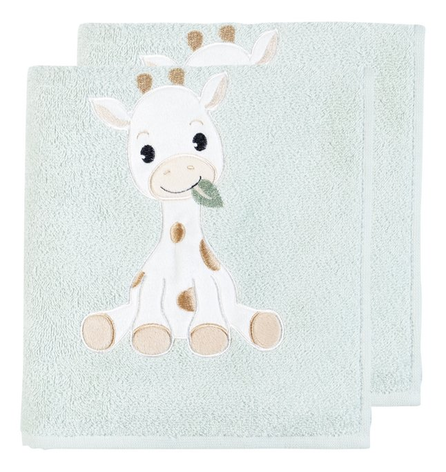Dreambee Handdoek Tobi groen - 2 stuks