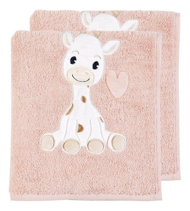 Dreambee Handdoek Tobi roze - 2 stuks